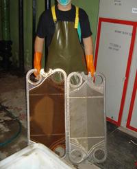 Чистка теплообменников химией Паяный теплообменник Alfa Laval CB110AQ-38H Химки